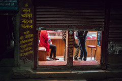 Shut in (danielhibell) Tags: kathmandu nepal travel asia discover explore world street streetphotography people religion culture ambience mood buddhism hinduism colour light praying moving special