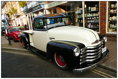 Black and White (donbyatt) Tags: vintagestony2019 cars classiccars vintage urban street chevroletflatbed