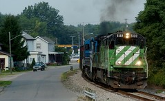 A Life of Coal (last second sun) (armco_block) Tags: ohiocentral ohiocentralrailroad trains coaltrain new lexington ohio railroadphotography