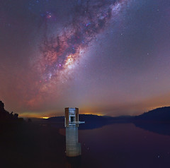 Smokey Milky Way - Serpentine Dam (inefekt69) Tags: milkyway western australia great rift panorama stitched msice clouds magellanic astrophotography astronomy stars galaxy milky way galactic core space night photography nikon 50mm d5500 dslr long exposure perth southern hemisphere cosmos cosmology serpentine dam ioptron skytracker hoya red intensifier filter didymium smoke haze