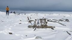 USAF wreck site on Bleaklow (Maria-H) Tags: plane wreck crash wwii snow winter bleaklow derbyshire peakdistrict pennines uk olympus omdem1markii panasonic 1235