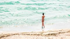 At the beach (Sebastian Pier Filip) Tags: beach sea blacksea sand girl woman seaside seashore bulgaria tz200 zs200 panasonic lumix compact pointandshoot pointnshoot pocketablecamera