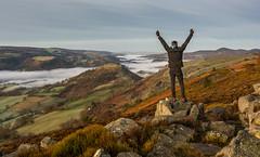 Happy Mondays! (Rob Pitt) Tags: llangollen wales cymru ruabon eglwyseg rocks denbighshire clouds sunset north mountain cliffs outdoor landscape hill mountainside cloud castell dinas bran morning sunrise mist sony a7rii