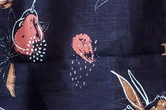 Final Screenprinted Fabric Length (Sophie Banh) Tags: canonae1 canonae1program canonefs canon illustration screenprinting work progress hand generated handgenerated placementprint place placement print linen navy feminine textiledesign textile design surfacedesign surface fabric ink gouache gouachepainting painting mixedmedia mixed media fabricswatches swatches length
