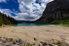 Lake Louise, Banff National Park (Chris-Creations) Tags: lake water mountain mountains landscape clouds nature blue