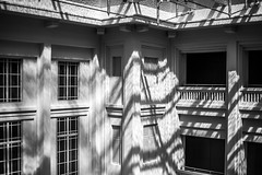 Down under (thecrapone) Tags: blackandwhite monochrome dramatic shadow hotspot texture nationalgallerysingapore architectural lines water contrast