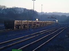 59206 shunting in westburys yard. (rharwood75) Tags: train locomotive track rail stone ballast sky sun class59 trees