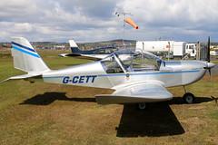 G-CETT_02 (GH@BHD) Tags: gcett evektor evektoraerotechnik ev97 eurostar newtownardsairfield newtownards ulsterflyingclub microlight aviation aircraft