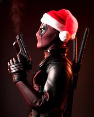 Santa 'Deadpool' Claus (Jezbags) Tags: santa deadpool claus toy toys hottoys sideshow guns santahat hat christmas canon canon80d 80d 100mm closeup upclose macro macrophotography macrodreams marvel marvelstudios fox