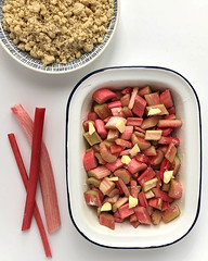 Food | Rhubarb | Crumble (Allkitchencolours) Tags: rhubarb rhubarbtopping glutenfree dessert puding meal recipe whitebackground foodphotography tangy