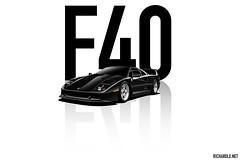 Ferrari F40 (Richard.Le) Tags: ferrari f40 blue lemans classic super car rare exotic expensive graphic art digital design photoshop rendering popular transportation richard le commercial automotive photography flickr hashtag tag explore like follow sony images a7rii