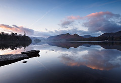 Derwent water reflection (Alf Branch) Tags: derwentwater water calmwater refelections reflection landscape lakes lakedistrict lake lakesdistrict leicadg818mmf284 cumbria clouds cumbrialakedistrict sunrise winter alfbranch olympus omd olympusomdem5mkii