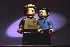 Captain Kirk and Mr Spock (Andrew Cookston) Tags: lego star trek citizenbrick custom minifigs minifig minifigure andrew cookston andrewcookston