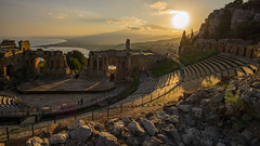 Teatro Antico di Taormina (radkuch.13) Tags: taormina europe italy sicily sunset sun clouds theatre antico antic greek etna sony sonyalpha history