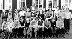 Class photo (theirhistory) Tags: children kids boy girl school class form group photo jacket jumper trousers shoes wellies teacher boots