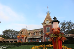 "Disneyland Train Station During Halloween Time • <a style=""font-size:0.8em;"" href=""http://www.flickr.com/photos/28558260@N04/44923565485/"" target=""_blank"">View on Flickr</a>"