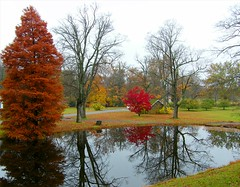 Ringwood Park Autumn (Stanley Zimny (Thank You for 33 Million views)) Tags: ringwood parh nj red tree fall autumn 4 four seasons house reflection pond