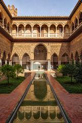 Patio de las Doncellas, Reales Alcázares de Sevilla (Si@Fi) Tags: andalusien sevilla palast alcazar spiegelung canon wasser architektur