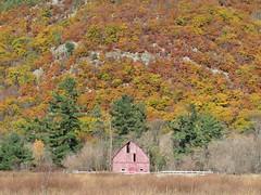 Barn against the Gatineau Hills (Sean_Marshall) Tags: luskville gatineauhills pontiaccounty pontiac québec barn fall autumn