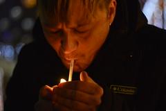 _DSC5098 (Aris_Totel) Tags: light lights shing blinke man male smoke city bokeh bulb