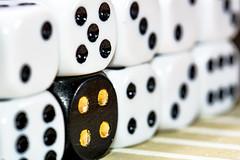 ... golden four ... (wolli s) Tags: dotsandstripes hmm macromondays mondays white black dice dot dots gold golden macro stipes