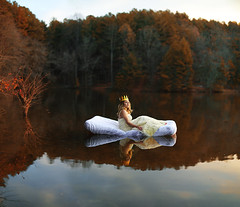 Day Dream (Bairon Rivera) Tags: day dreamer crown princess alone mattress woods trees fall water reflection surreal