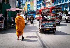 Life in Bangkok (dlerps) Tags: bkk bangkok city daniellerps lerps sony sonyalpha sonyalpha99ii tha thai thailand urban lerpsphotography metropolitan monk buddhism buddhist buddhistmonk orange tuktuk auto traffic street streetphotography bus walking religion carlzeiss carlzeissplanar50mmf14ssm chinatown asia