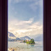 On Isla Bella, through a window at Palazzo Borromee, Lake Maggiore, Italian Lake District