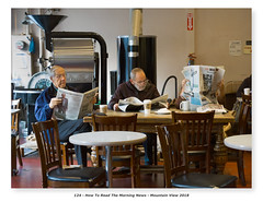 How To Read The Morning News (Godfrey DiGiorgi) Tags: breakfast cafe neighborhood newspaper people street urban mountainview california usa us