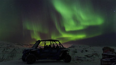 those heartstopping moments in life (lunaryuna) Tags: norway northernnorway troms winter season seasonalwonders night nocturnal nightsky starrynight auroraborealis nordlichter northernlights samicamp vehicle silhouette green phenomenon beauty longexposure lunaryuna