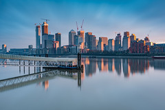 Pin Drop Silence... (Aleem Yousaf) Tags: serene serenity canary wharf river thames long exposure christmas morning bike ride london east clippers mbna neutral density filter city cityscape docklands reflections mirror light shadows skyscraper towers pin drop silence photography photo construction cranes mood artistic fine art rotherhithe town downtown building d810 modern buildings architecture 1835mm wide angle lens londonist sky citi clouds hsbc state street brclays financial institutions skyline big stopper novotel hotel water digital camera nikon nikkor