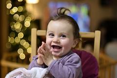 Hanaé (Raphistole) Tags: bokeh bébé baby chikdren flou arrière plan portrait christmas noël sourire nikkor 50mm f14 nikon d7000