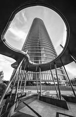 PWC tower (Madrid) (GC - Photography) Tags: arquitectura architecture edificio building torre tower pwc madrid españa spain nikon d5100 blancoynegro blackandwhite gcphotography tokinaaf1116mmf28