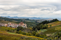 Langhe (danilonino) Tags: landscape langhe yellow fog sky vine italy italia colors colline unescu vigne colori autun autunno cielo