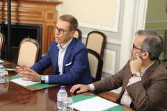 Alexander Stubb na Sede Nacional do PSD
