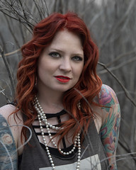 Eryn Bent at the bosque (Mitch Tillison Photography) Tags: beautiful stunning gorgeous lovely amazing talented singer songwriter musician model woman female ginger red redhead tattoo lady portrait photo photography mitchtillison nikon d810 naturallight tamron 70200 outdoors nature bosque woodland briars brambles
