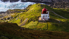 Runde Lighthouse (Leifdux) Tags: runde lighthouse norway dusk sunlight warm hdr landscape waves water island