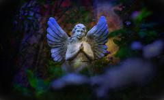 Bénédiction du Ciel (JDS Fine Art Photography) Tags: inspirational spiritual angel prayer praing divine beauty innerpeace serenity magic magical dreamworld fantasy statue colors illumination dreamy light