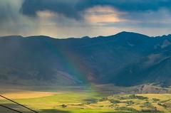 Teton Rainbow (LarryJH) Tags: jackson hole rainbow storm virga grandtetons mountain grass sky landscape herscovitch larry copyright jacksonhole tetons