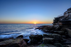 Right up front (JustAddVignette) Tags: algae australia bluehour brontebeach dawn early easternsuburbs headland landscapes newsouthwales ocean rockpool rocks seascape seawater sky sunrise sydney water