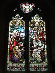 St. Mary's Church, Bramshott, Hampshire (Living in Dorset) Tags: stainedglasswindow churchwindow church window stmaryschurch bramshott hampshire england uk gb