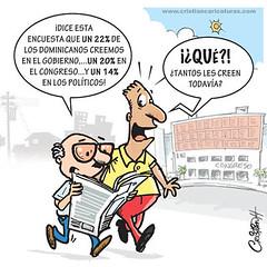Caricatura credibilidad (Caricaturascristian) Tags: credibilidad de los dominicanos eldiado caricaturas instituciones del estado partidos políticos gobierno congreso policía