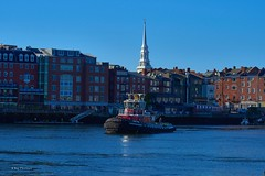 Portsmouth (RayTheriault) Tags: nikon nikond810 waterfront water boats portsmouth buildings steeple 24120 d810