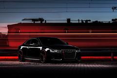 Trains (Markus Holzer) Tags: rot audi audia5 audiquattro audisport audiofficial audizine quattro sline a5 s5 rs5 tdi mbdesign kv1 coilover low lowered train trainstation oebb öbb