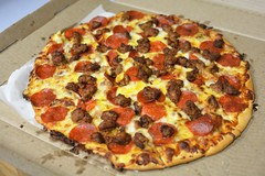 Spicy Meat Lovers Pizza (rabidscottsman) Tags: scotthendersonphotography flickrfriday welovepizza spicy hot spicysausage bacon pork pepperoni roundfood delicious pizza nflfood meat meatlovers meatloverspizza spicymeatlovers jalapenobaconbits food meltedcheese olepiperinn indigestion twincities foodporn foodphotography foodblog sunday weekend nikon nikond7100 d7100 35mm nikkor35mmf18 nikkor