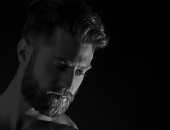 Contemplative Jordan (Jarrod McKenna) Tags: male model nude beard gay sexy
