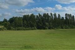 Greetsiel_042 (rhomboederrippel) Tags: rhomboederrippel june 2018 fujifilm xe1 europe germany lowersaxony greetsiel sky blue green grass tree cloud