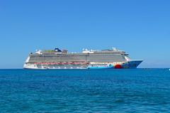 Awaiting Our Return (Neal D) Tags: georgetown grandcayman caymanislands ship cruiseship norwegianbreakaway ncl norwegiancruiseline