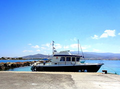 Antiparos Port (dimaruss34) Tags: newyork brooklyn dmitriyfomenko image sky clouds greece antiparos aegeansee water boat motorboat port jetty pier