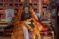 139. Interior, Padmasambhava (Guru Rinpoche), Lho Ribang Monastery, Lho, Gorkha District, Manaslu Trek, Nepal (Jay Ramji's Travels) Tags: nepal lho gorkhadistrict manaslutrek himalayas lhoribangmonastery monastery buddhism placeofworship interior statue padmasambhava gururinpoche